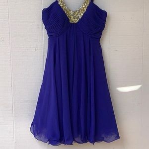 Anny Lee Women's Party Dress Royal Blue Small